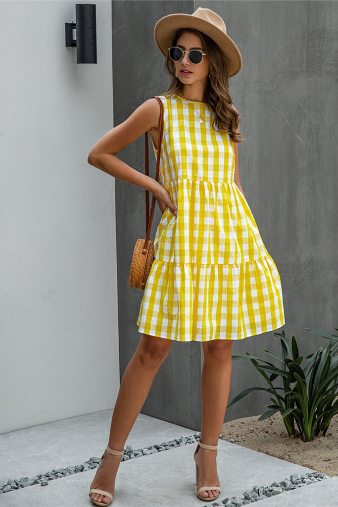 Checkered Relax Fit Dress