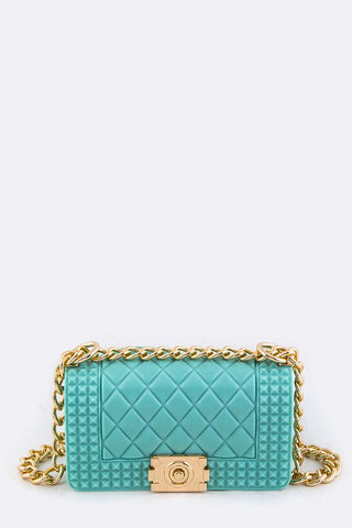 Teal Fashionable Quilted Bag