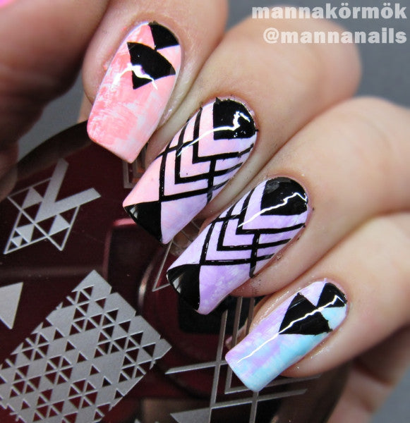 BORN PRETTY Nail Art Stamp Template