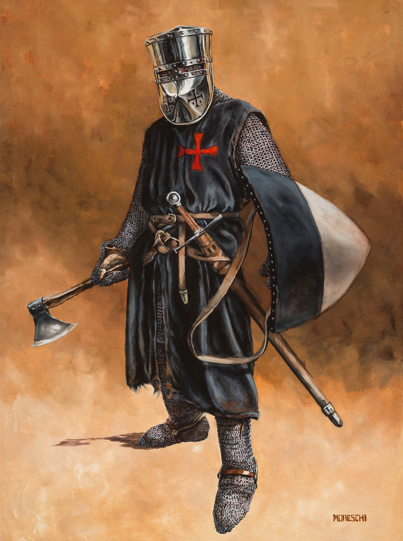Original Oil Painting - The Templar Brother Sergeant 18