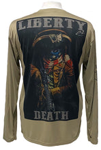 "LIBERTY OR DEATH! VARIANT Men's Cooling Performance ""Dri Fit"" Long Sleeve Tee"