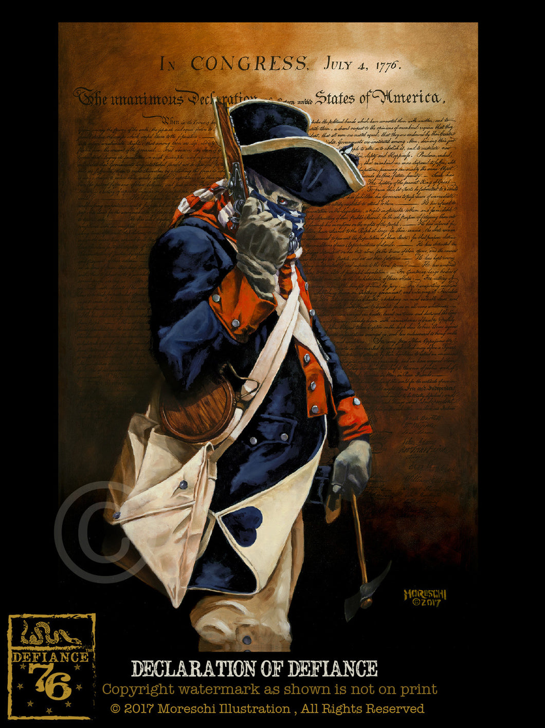 Declaration of Defiance Giclee Fine Art Prints