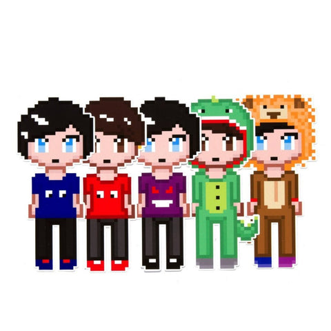 Dan and Phil Pixel Sticker Pack 1