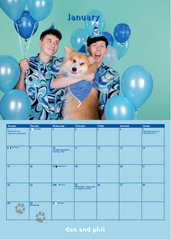 Dan and Phil and Dogs 2018 Calendar