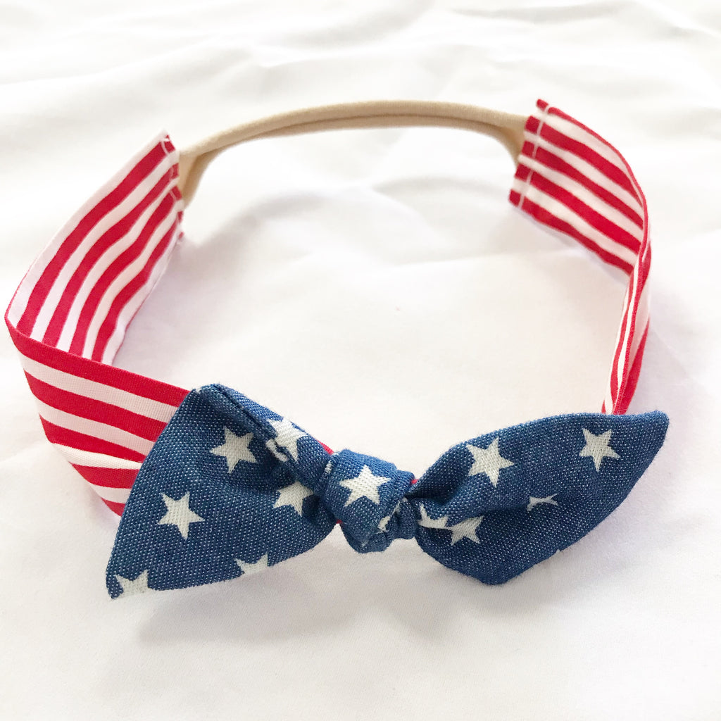 Vintage Headband- Stars and Stripes