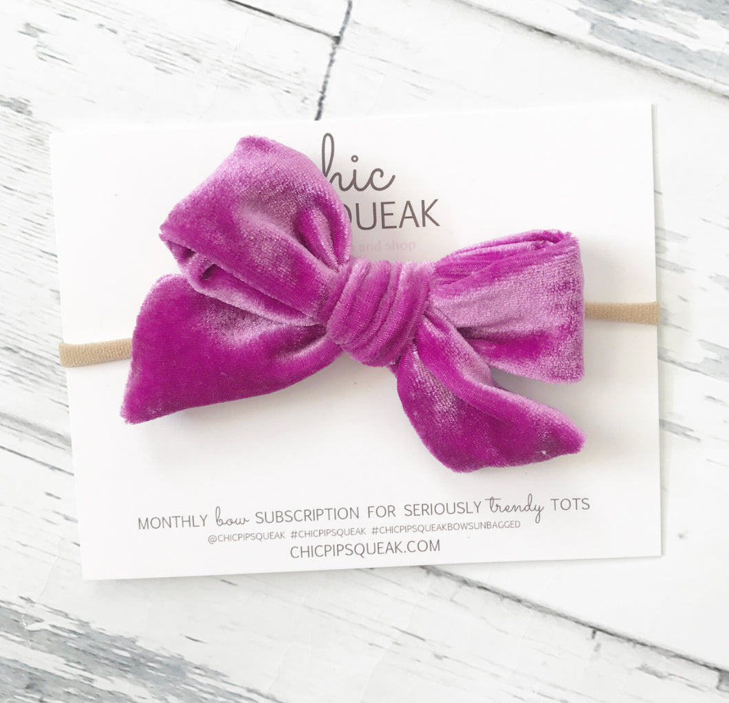 Crushed Velvet Bow- Fandango