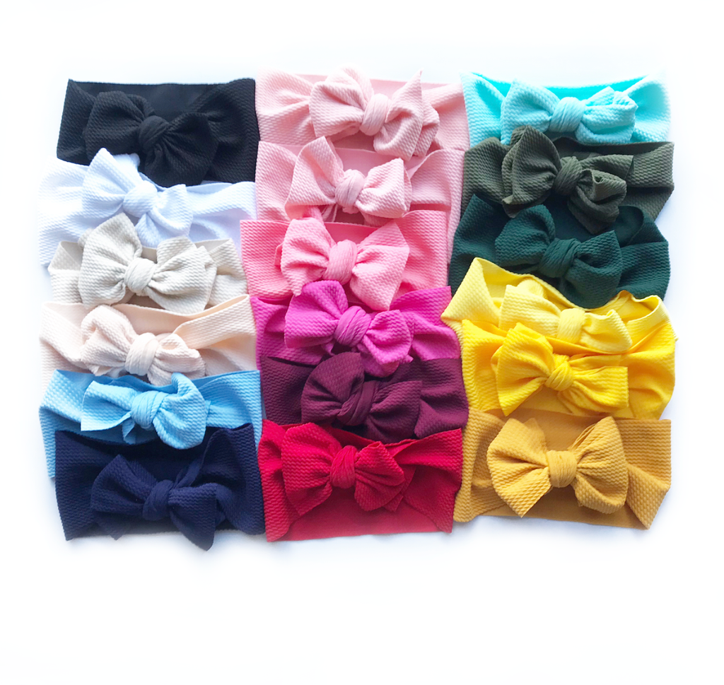 Adjustable Tie Big Bow Headwraps