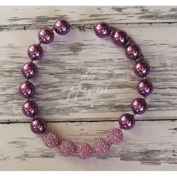 Bubblegum Baby and Kids Necklace, Lavender