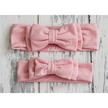 Avery Pale Pink Double Bow Baby Headband Headwraps