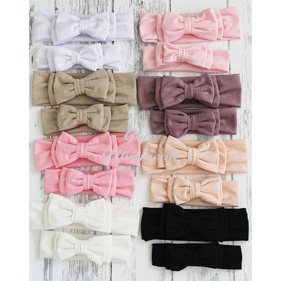 Avery Double Bow Baby Headband Headwraps