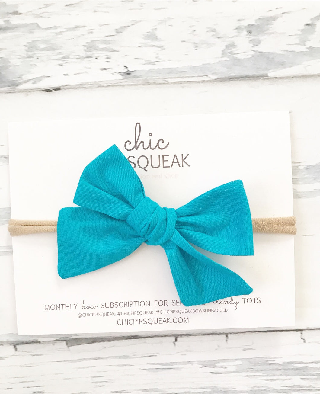 Electric Blue Soft Cotton Bow