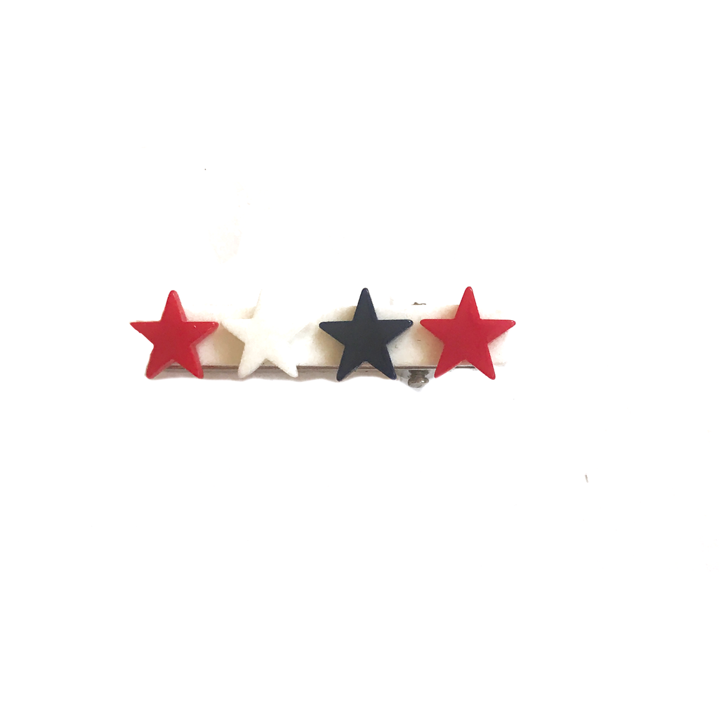 Bar Clip- Red, White and Navy Stars