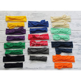 Top Knot Headbands, Solid Colors