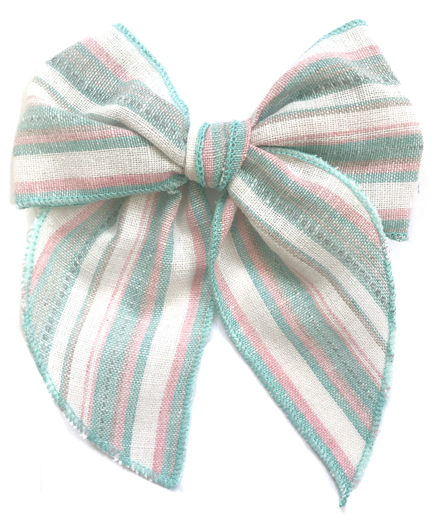 Cameryn - Pink and Aqua Pastel Stripe
