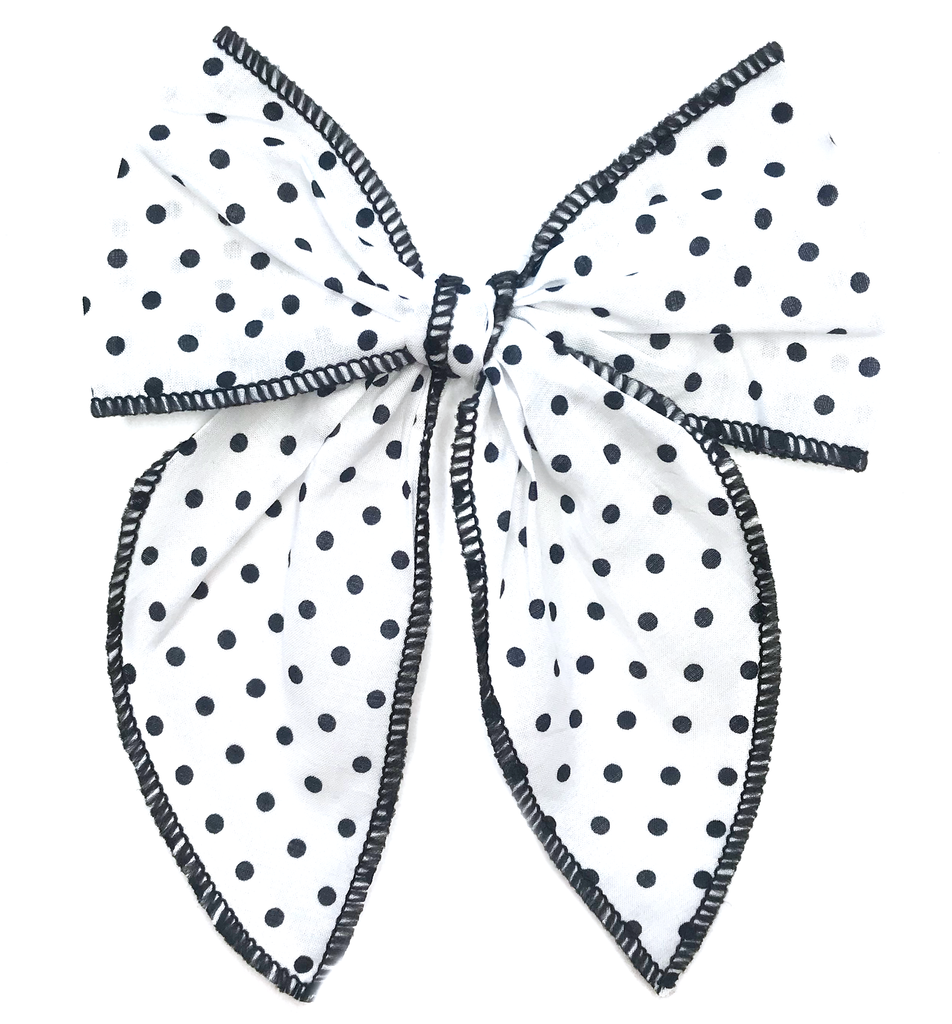 Cameryn- White with Black Polka Dots