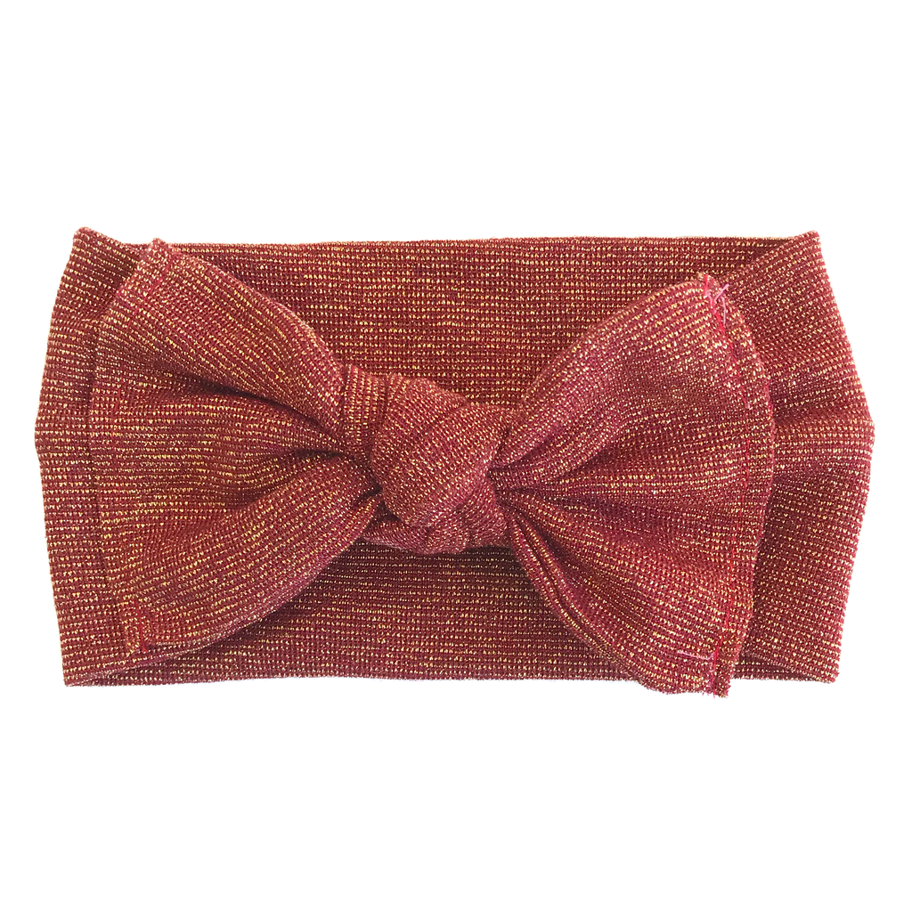 Classic Nylon Headwrap // Red Shimmer