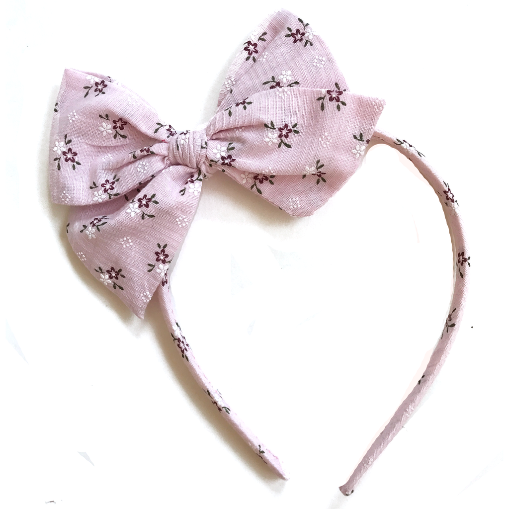 Collette Headband- Baby Pink Floral