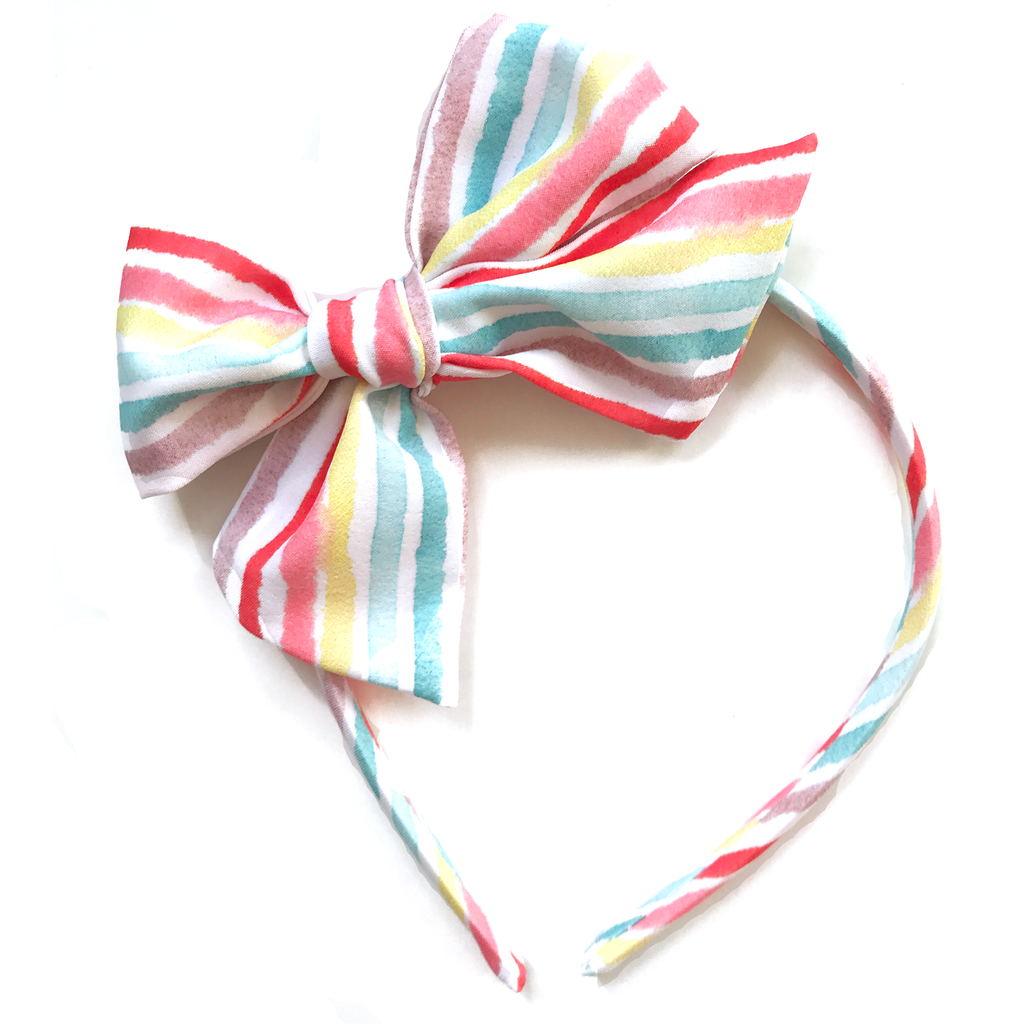 Collette Headband- Beach Stripe
