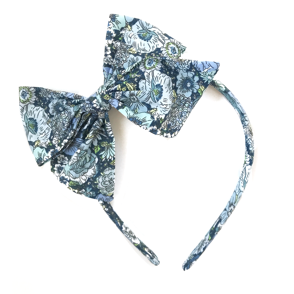 Collette Headband- Fall Blue Floral
