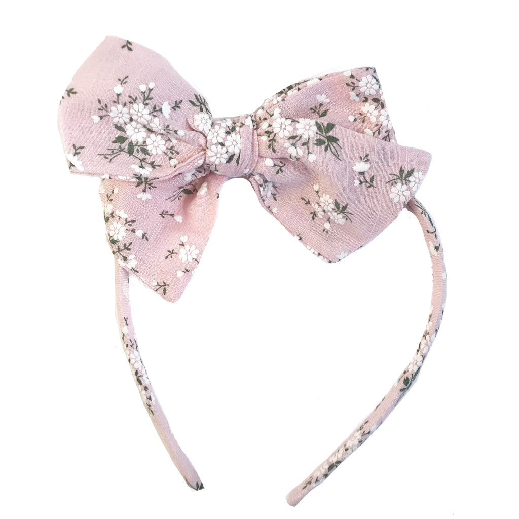 Collette Headband- February Pink Floral