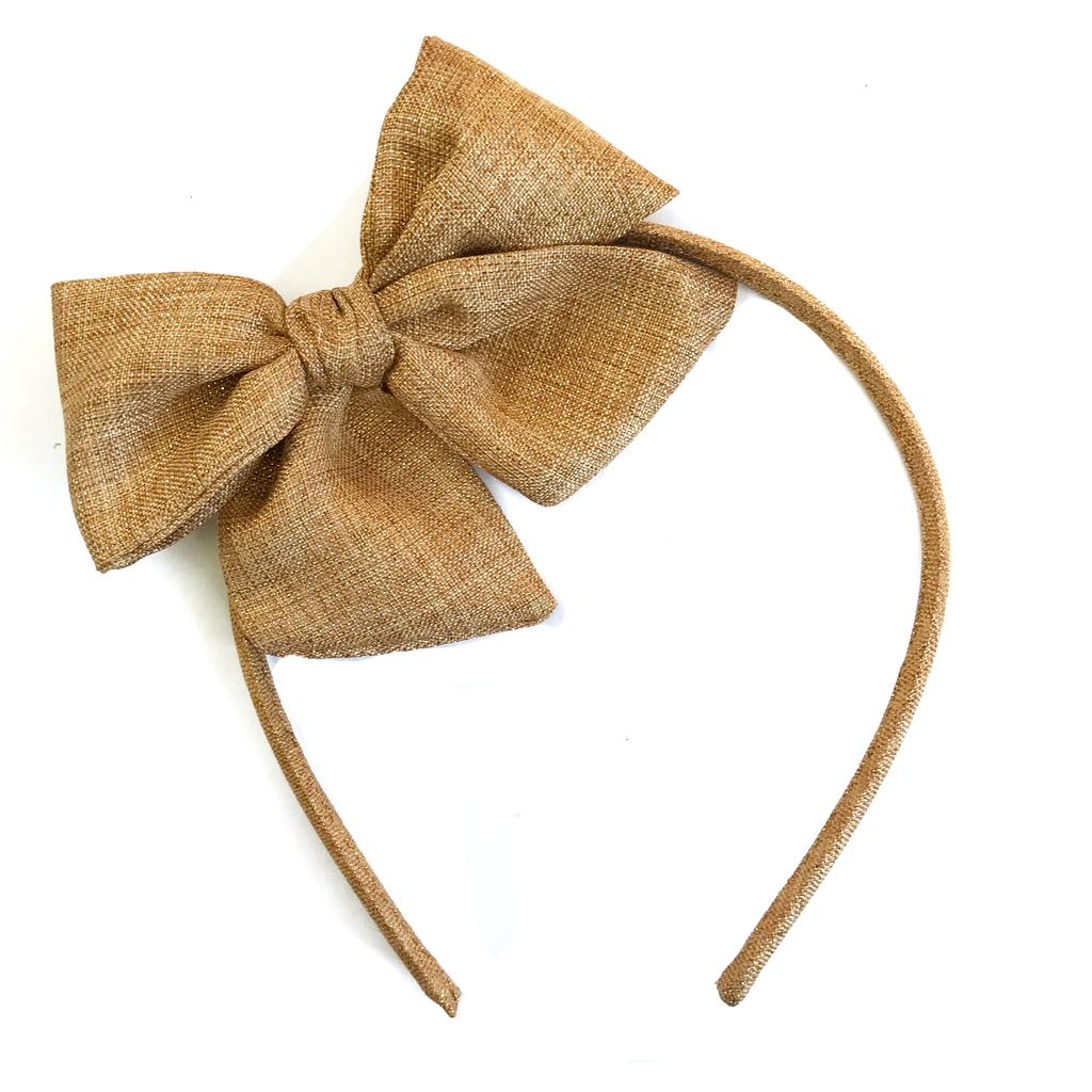 Collette Headband- Gold Shimmer