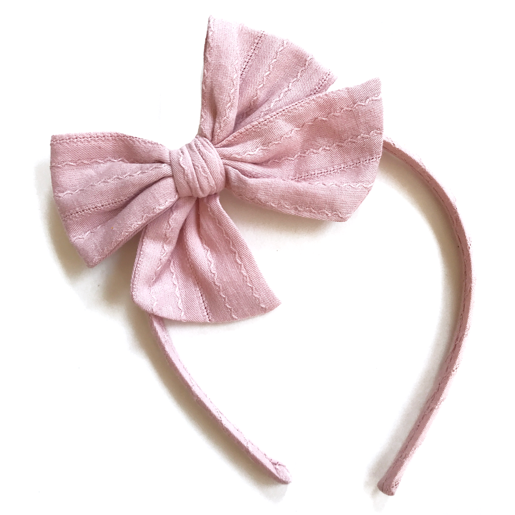 Collette Headband- Mauve Pink Cable