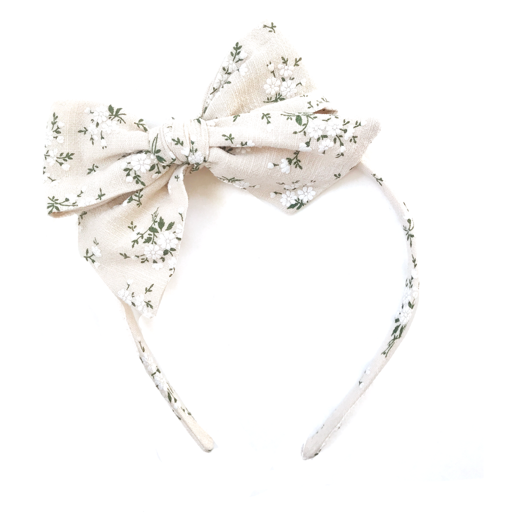 Collette Headband- Natural Fall Floral