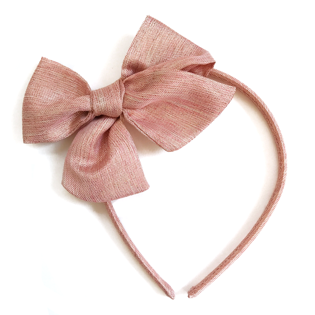 Collette Headband- Light Pink Shimmer