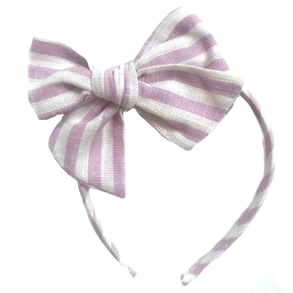 Collette Headband- Stripe Light Amethyst