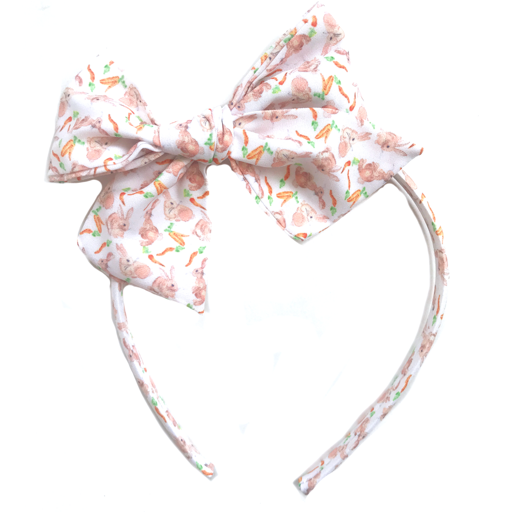 Collette Headband- White Bunny
