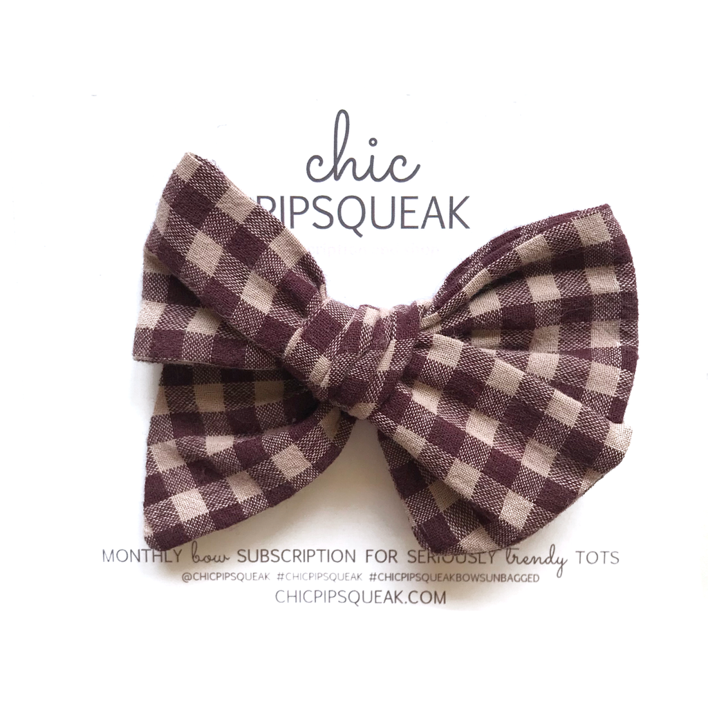 Hand-Tied Bow - Cranberry Buffalo