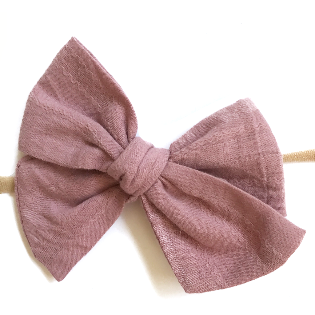 Hand-Tied Bow -Dark Dusty Mauve