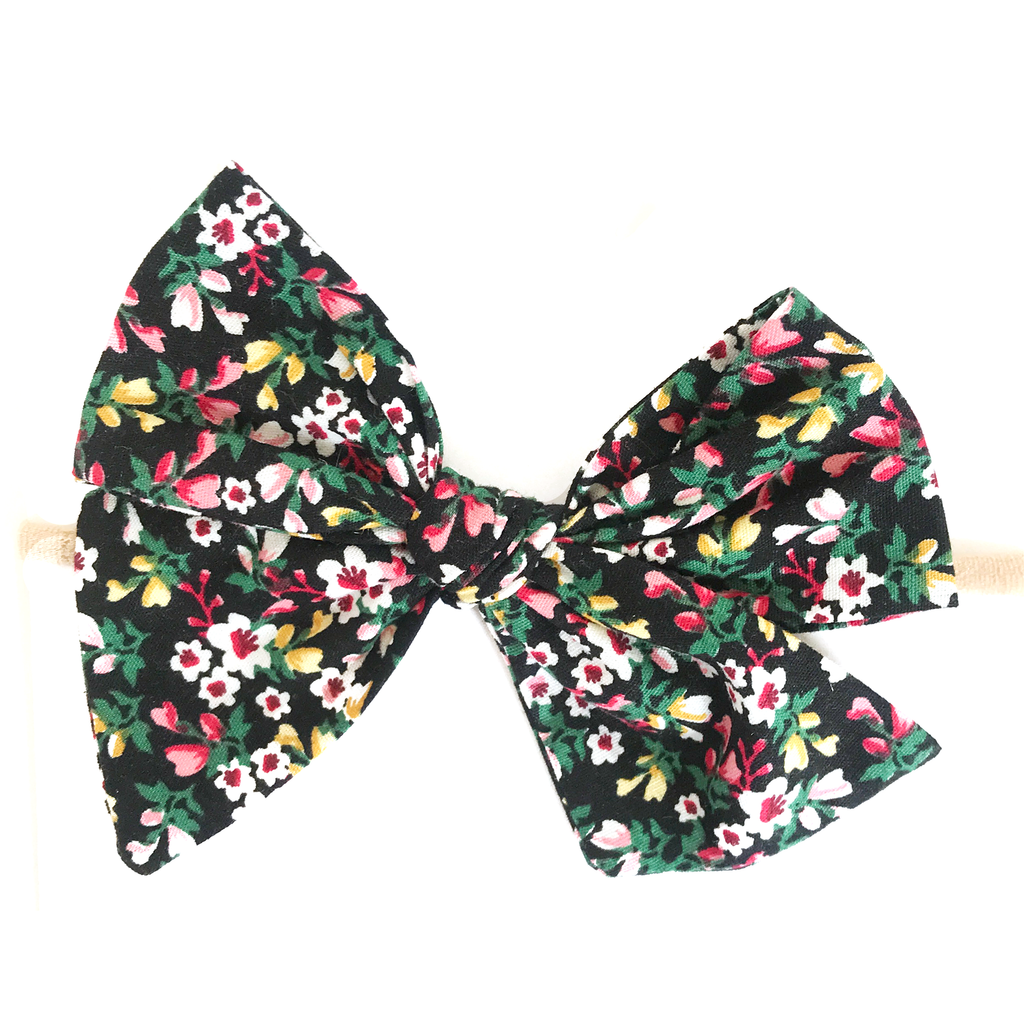Hand Tied Bow - Holiday Floral