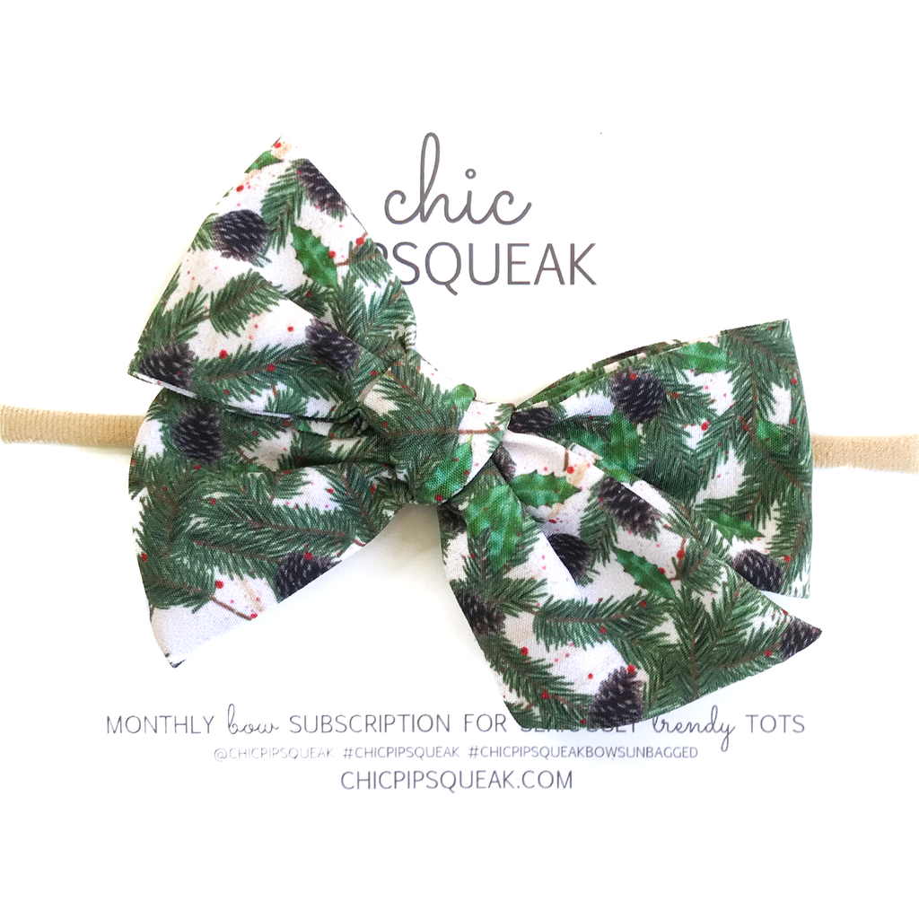 Hand-Tied Bow - Holiday Pine
