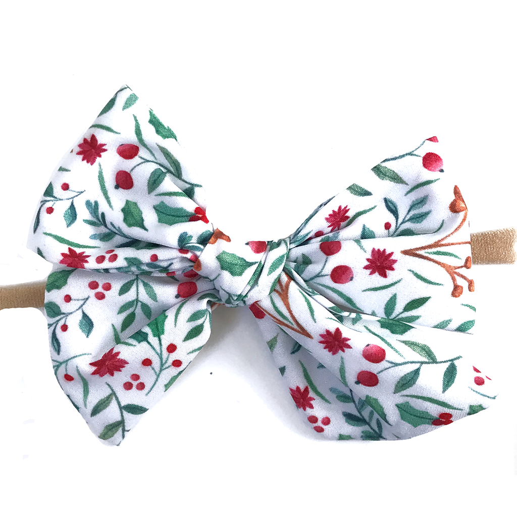 Hand Tied Bow - Holly Holiday