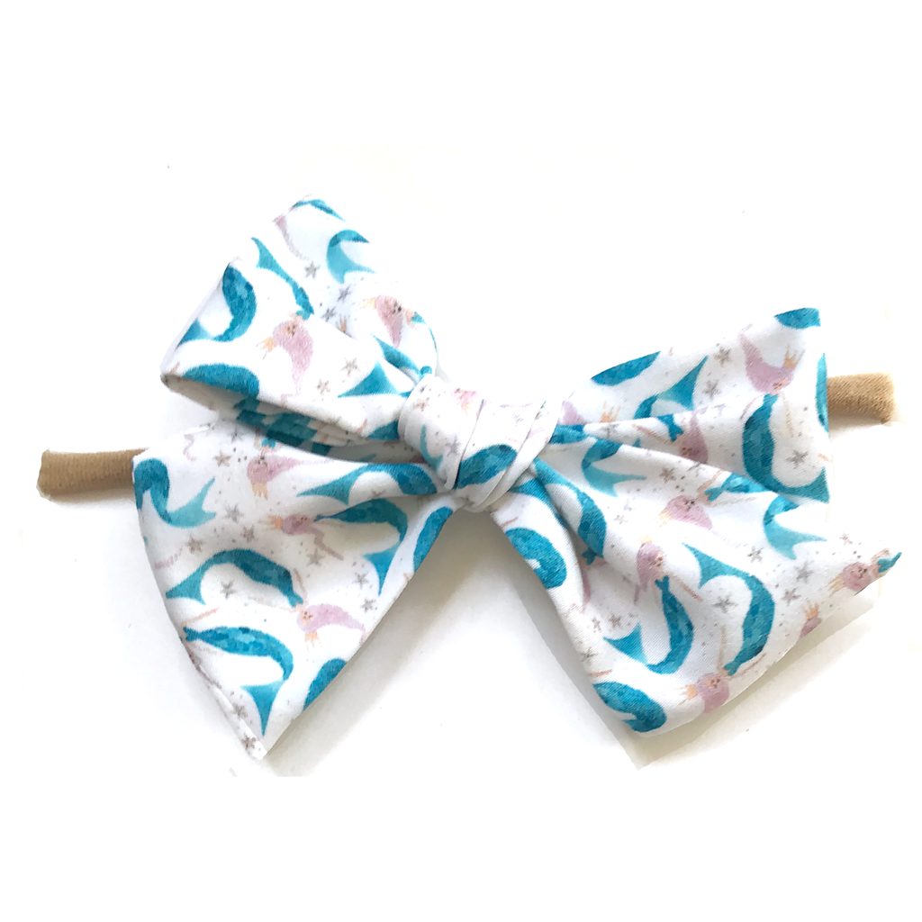 Hand-Tied Bow -Mermaid