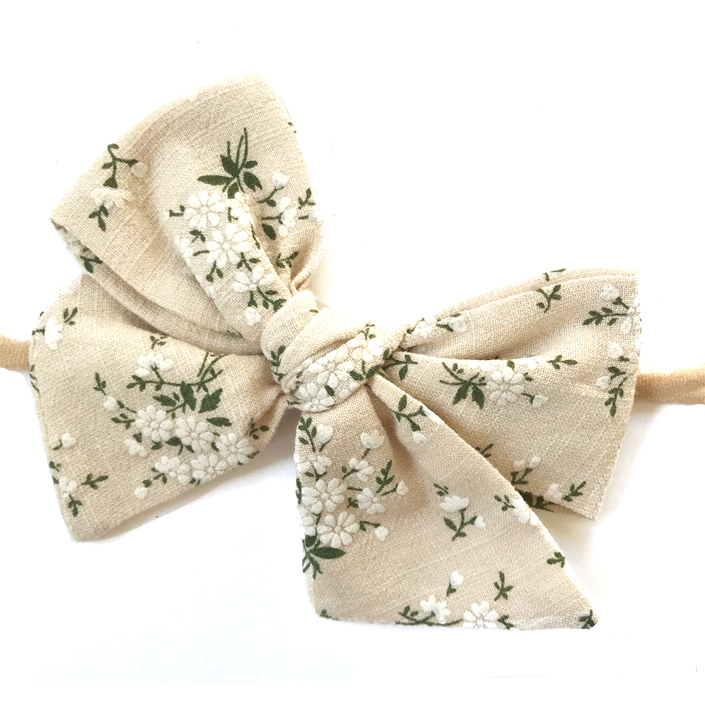 Hand Tied Bow - Natural Fall Floral