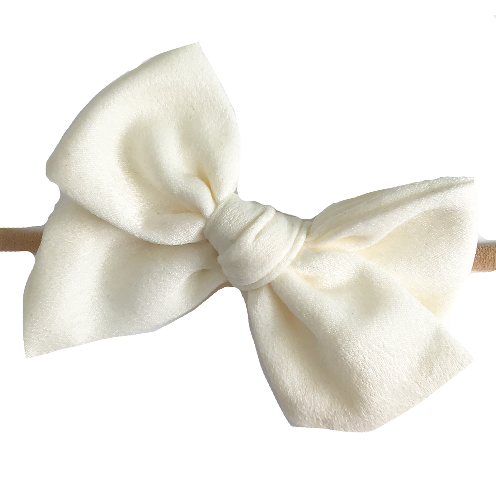 Hand Tied Bow - Off White Silk