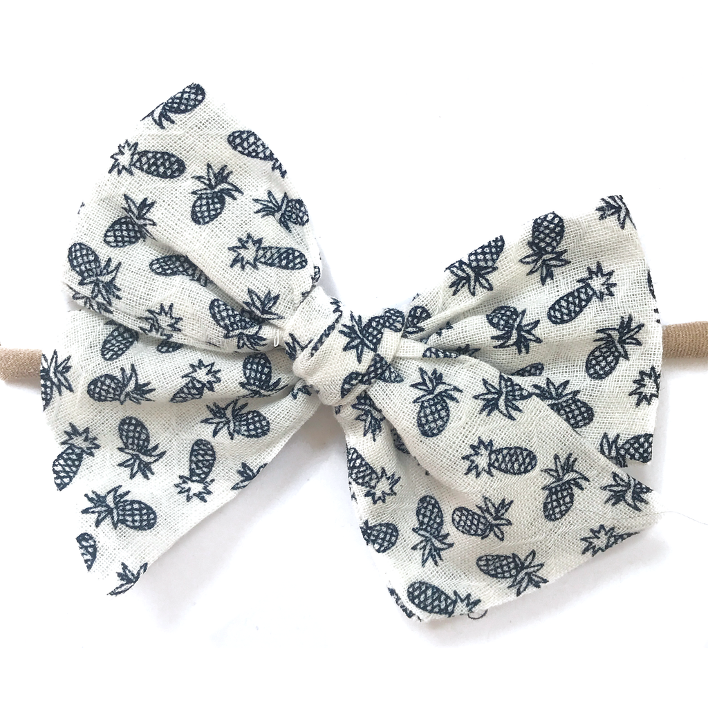 Hand-Tied Bow - Pineapple