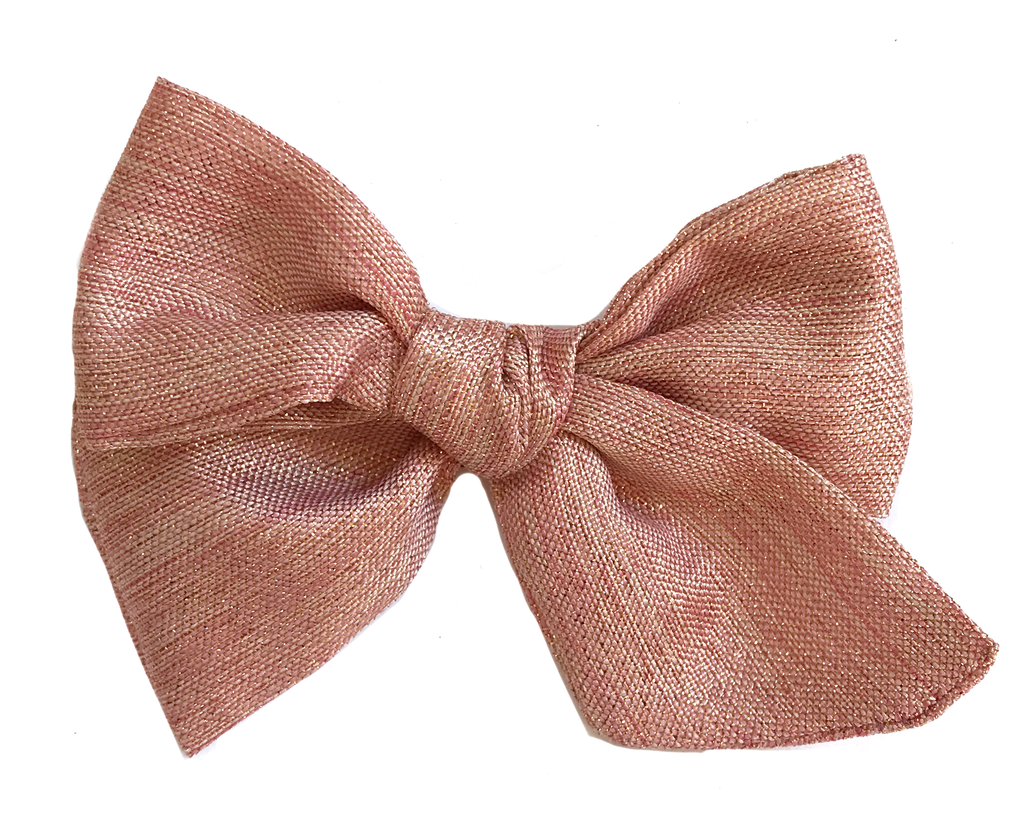 Hand-Tied Bow - Pink Shimmer