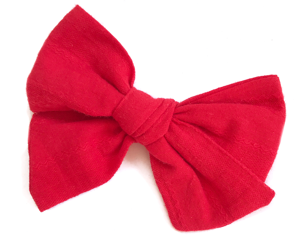 Hand-Tied Bow - Red Vintage