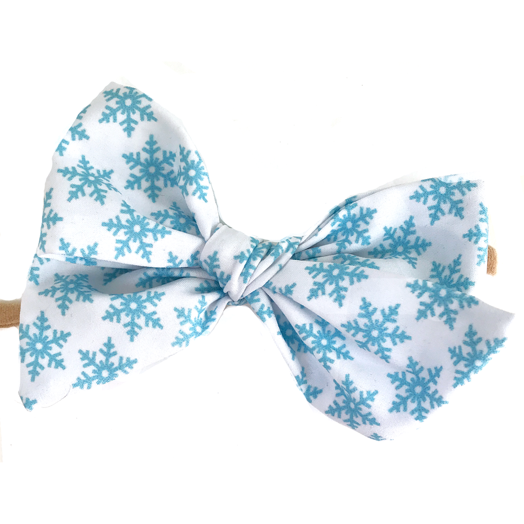 Hand Tied Bow - Snowflake