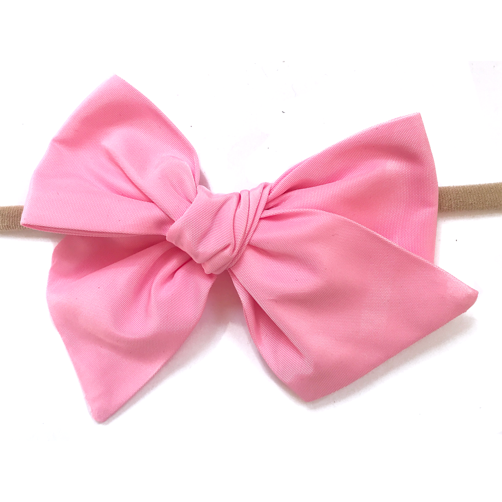 Hand-Tied Bow - Water Pink