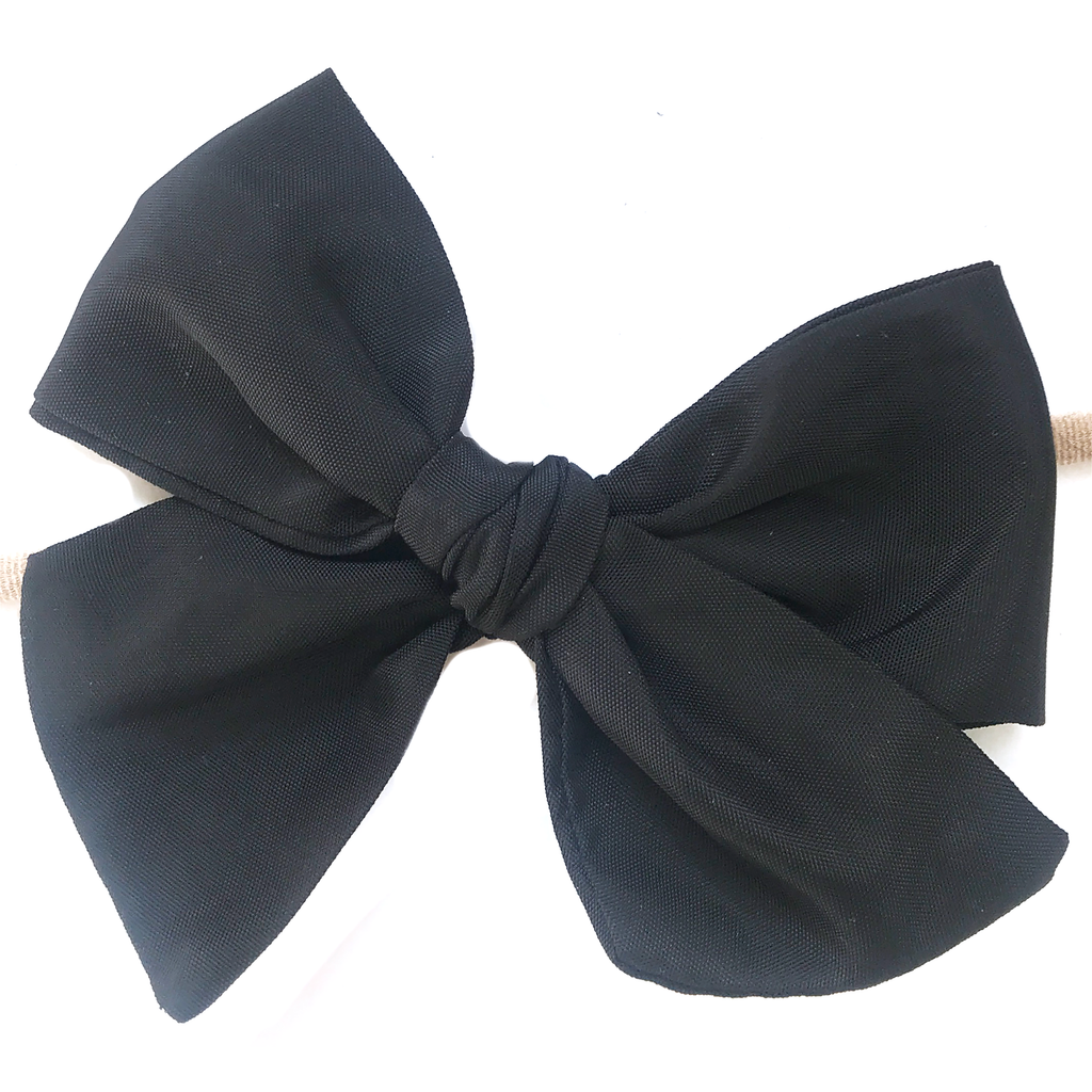 Hand-Tied Bow - Water Black