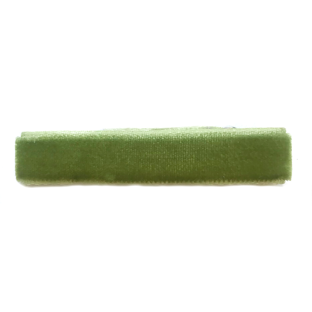 Velvet Bar Clip- Light Olive