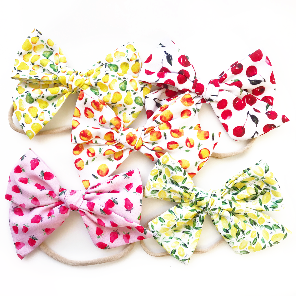Hand-Tied Bow- Fruit Collection