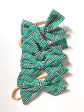 Hand-Tied Bow- Red or Green Plaid