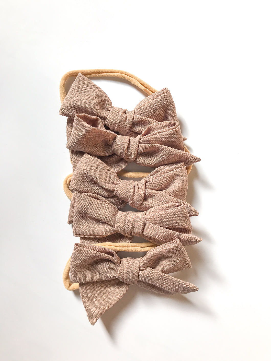 Hand-Tied Bow- Shimmery Tan