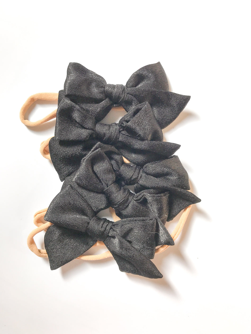 Satin Hand-Tied Bow- Black