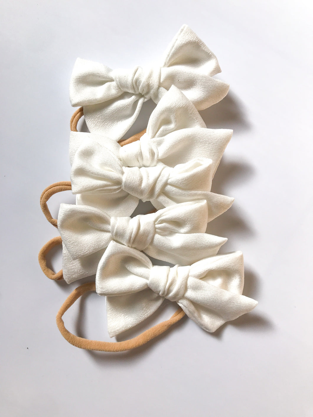 Satin Hand-Tied Bow- White